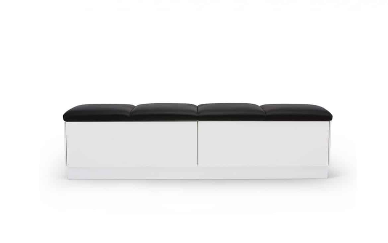 Sittbänk Domino Med 2 Lådor Och Skinnsits, Bagge Design