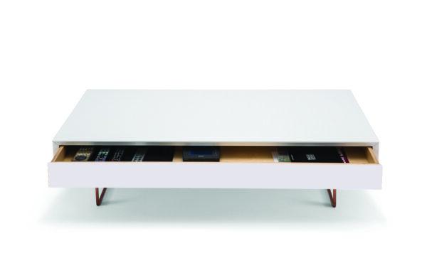 Air soffbord med låda vit öppen