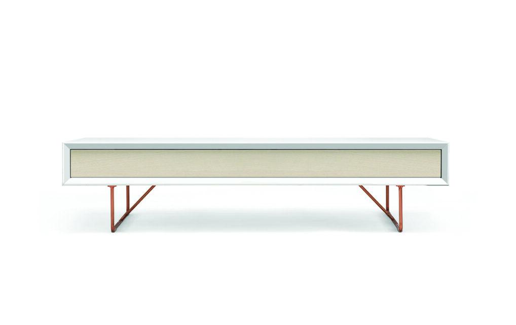 Air soffbord med låda / Ask natur