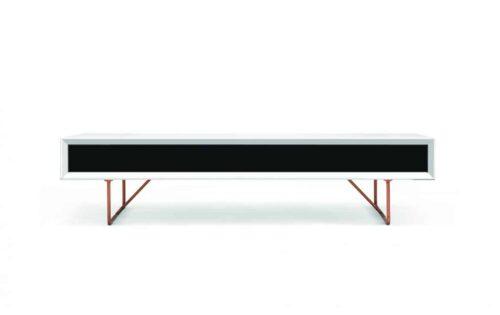 Soffbord med låda svart