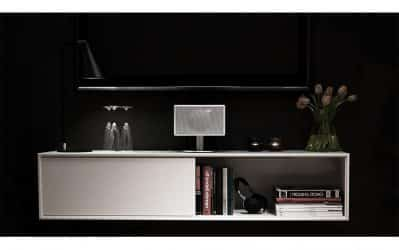Vägghängd Tv-bänk London vit 140 cm