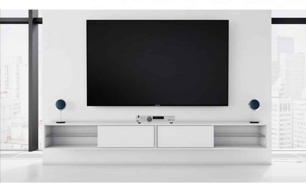 Vägghängd Tv-bänk London vit 140 cm mdf
