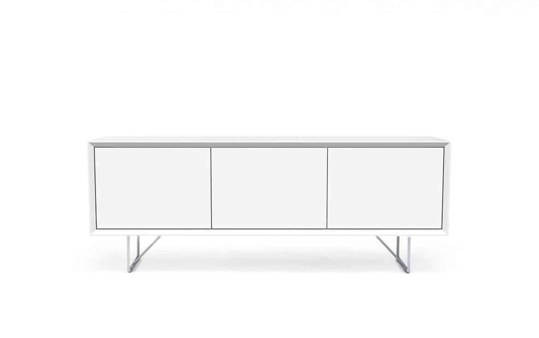 Tv Bänk New Air 152 Cm Vitlack Med Metallben Bagge Design