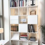 Bokhyllor- Modern hylla, bokhylla Stripe vit byggbar