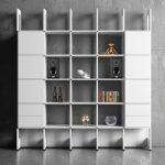 Bokhyllor, Stripe Bokhylla byggbar 5 sektioner 6 skåp 2 lådor
