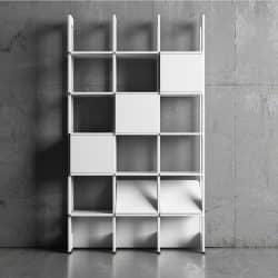 Stripe modern bokhylla 3 sektioner 125 cm