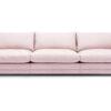 Prince soffa 3 sitsar tyg Linara rosa