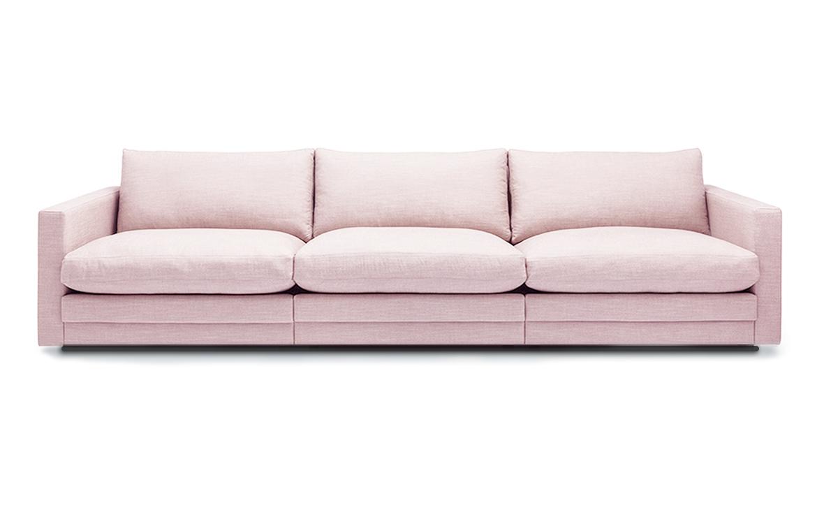Toppen PRINCE soffa 3 sitsar, 3 storlekar och ett 100 tal tyger, BAGGE DESIGN TQ-04