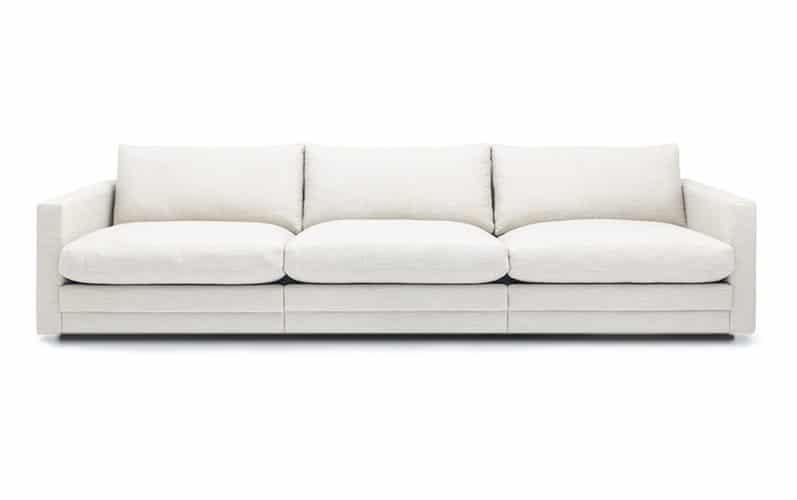 Prince soffa 3 sitsar tyg Liara vit