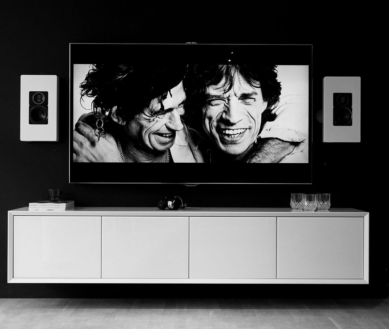 Tv möbler, Vägghängd Tv-bänk New Air 4 dörr