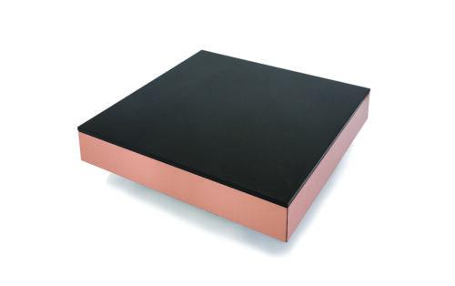 Copper Box Soffbord med lådor/ koppar - granit