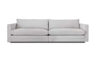 Prince soffa bredd 244 cm tyg Linara grå