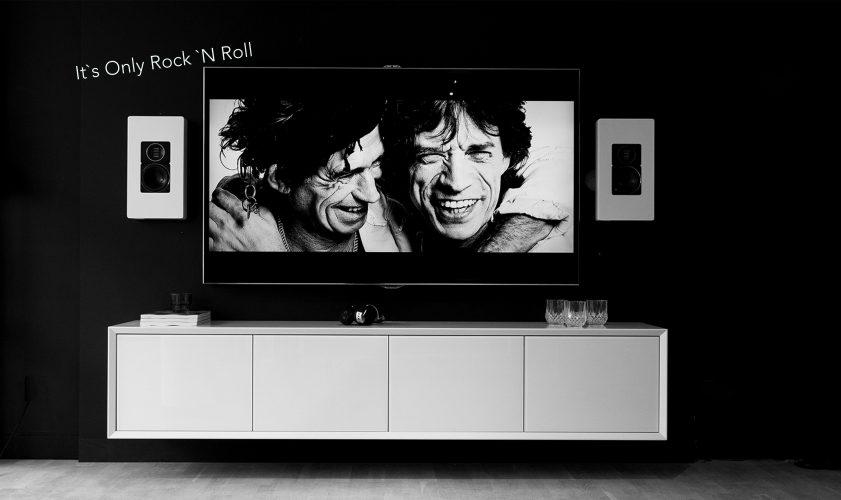 Vägghängd Tv Bänk New Air 201 cm vit mdf