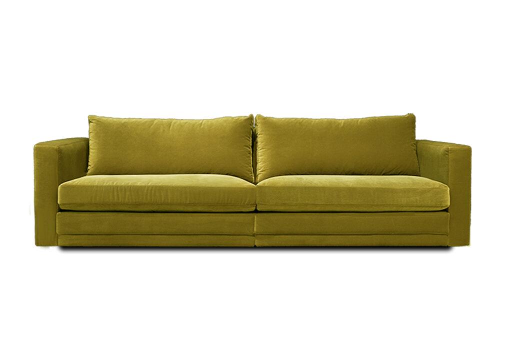 Modulsoffa Prince 2 sektioner 244 cm tyg Glam Velvet gul